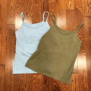 2 {Faded Glory} Stretch Tanks, M (8/10)